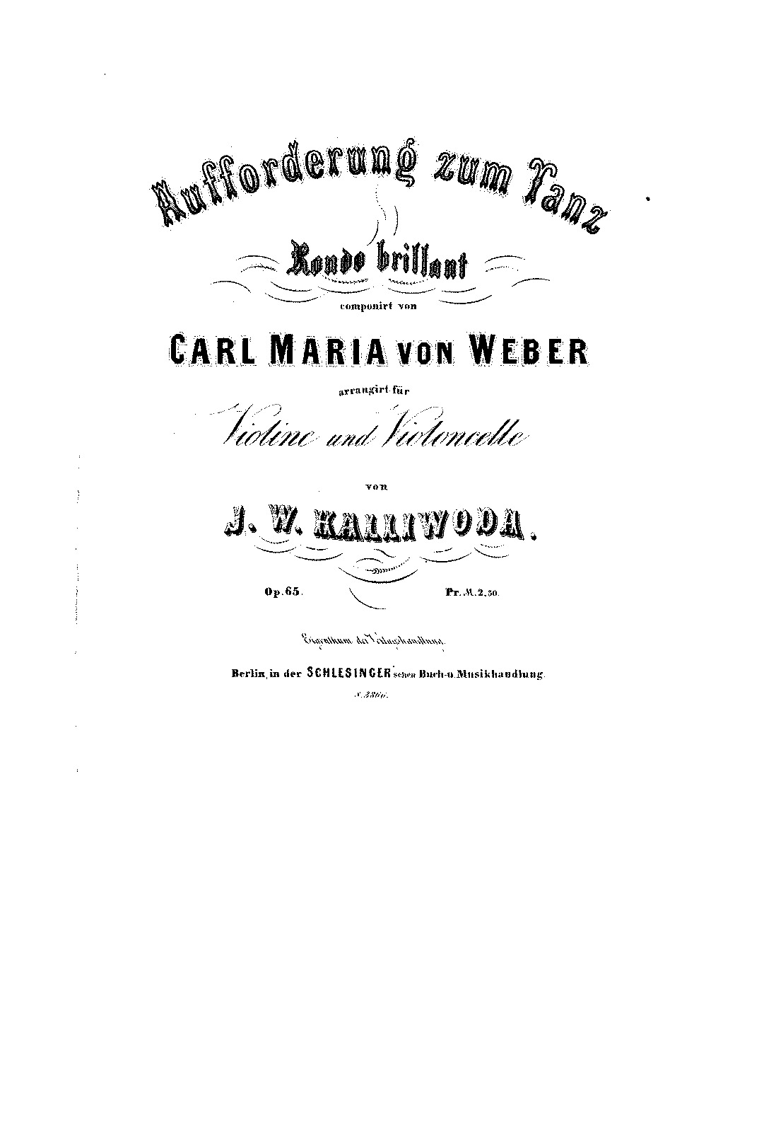 PMLP05759-Weber - Aufforderung zum Tanz Rondo Brillant Op65 for Violin and Cello (Kalliwoda) score.pdf