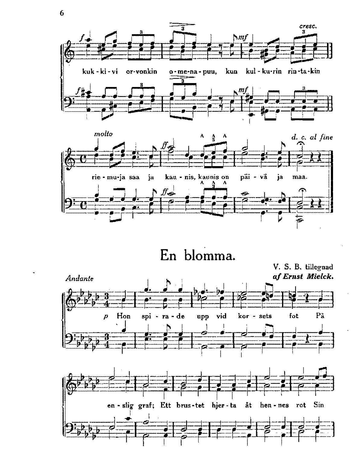 Mielck - Choir works 'En blomma', 'Morgenlied', 'Stjernorna', 'Wanderlied' (1897).pdf