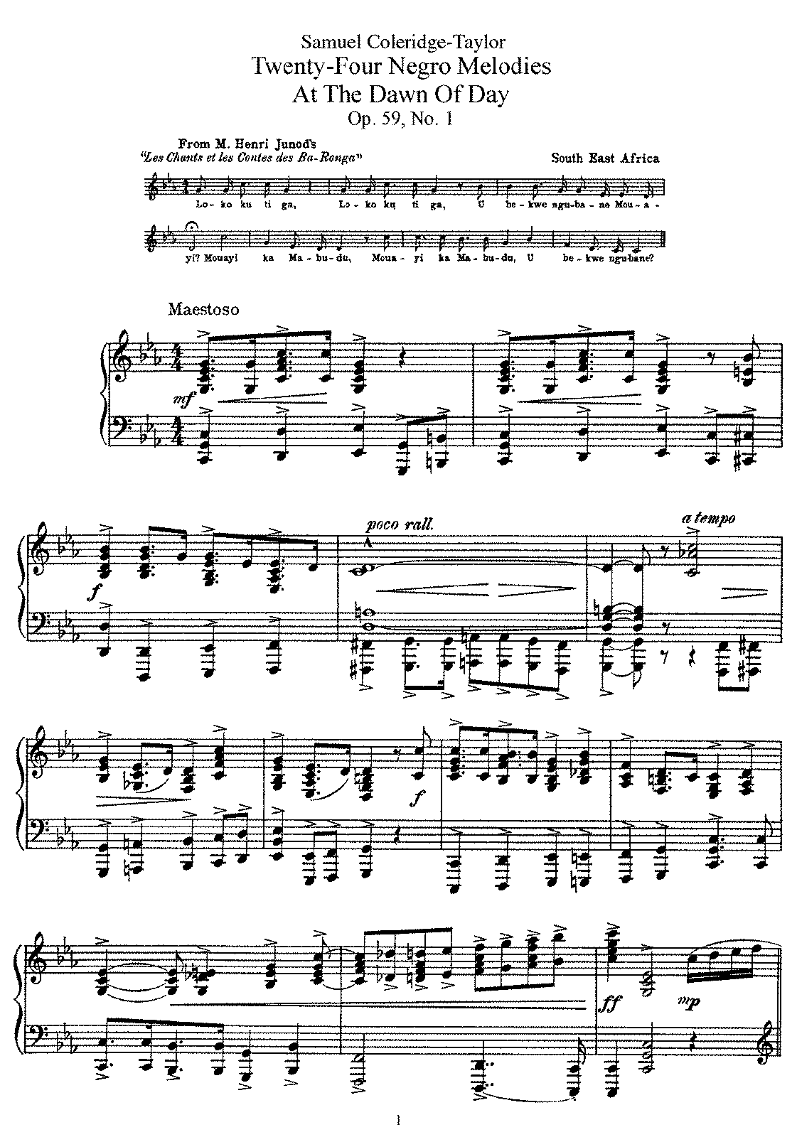 Coleridge-Taylor - 24 Negro Melodies (piano).pdf