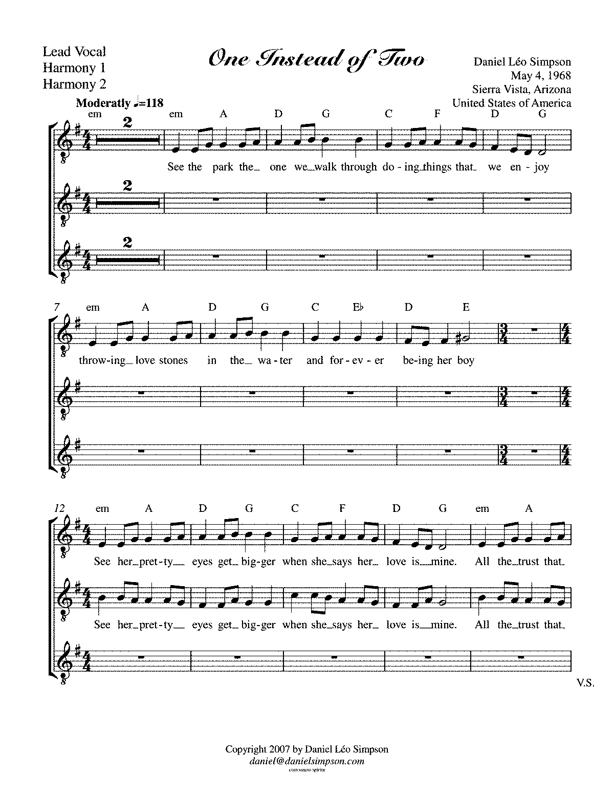 PMLP461795-One-Instead-of-Two-022611 - Lead Vocal, Harmony 1, Harmony 2.pdf