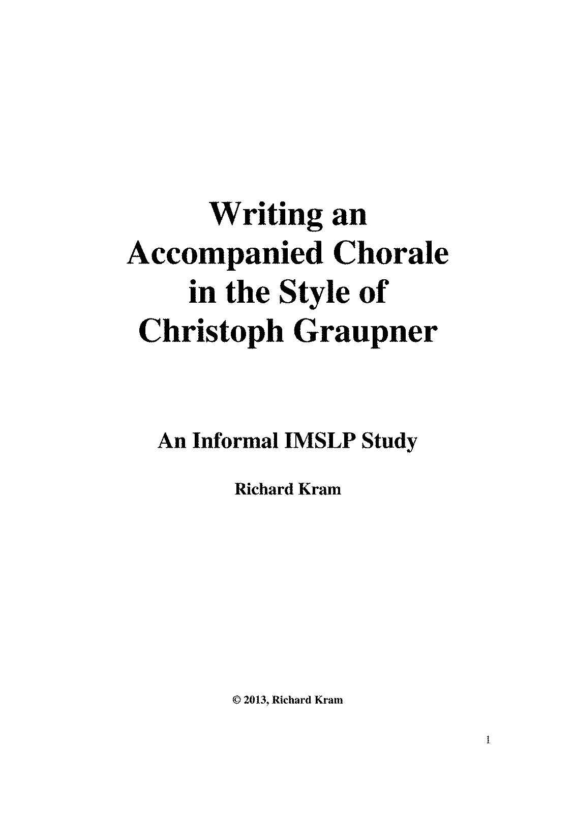PMLP458238-How to write a chorale in the style of Christoph Graupner Current.pdf