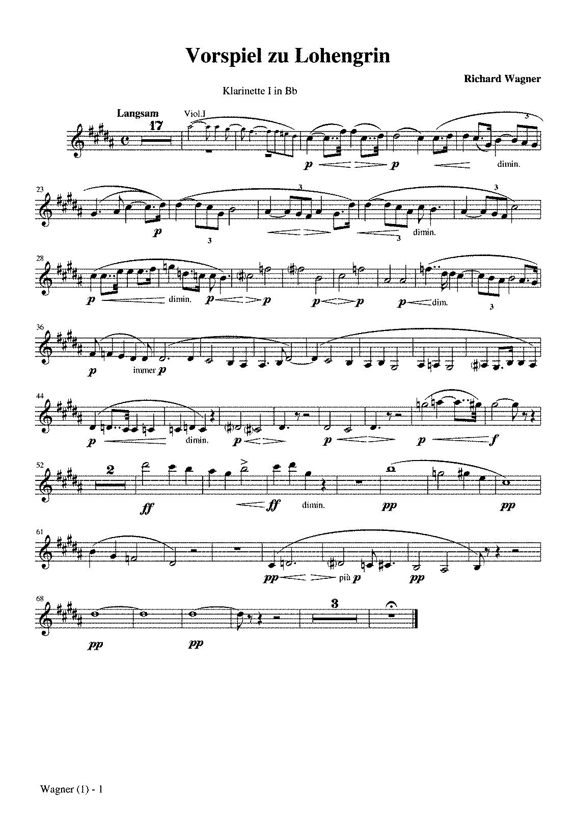 PMLP03617-Wagner, Lohengrin, Prelude 1st Act Clarinet parts.pdf