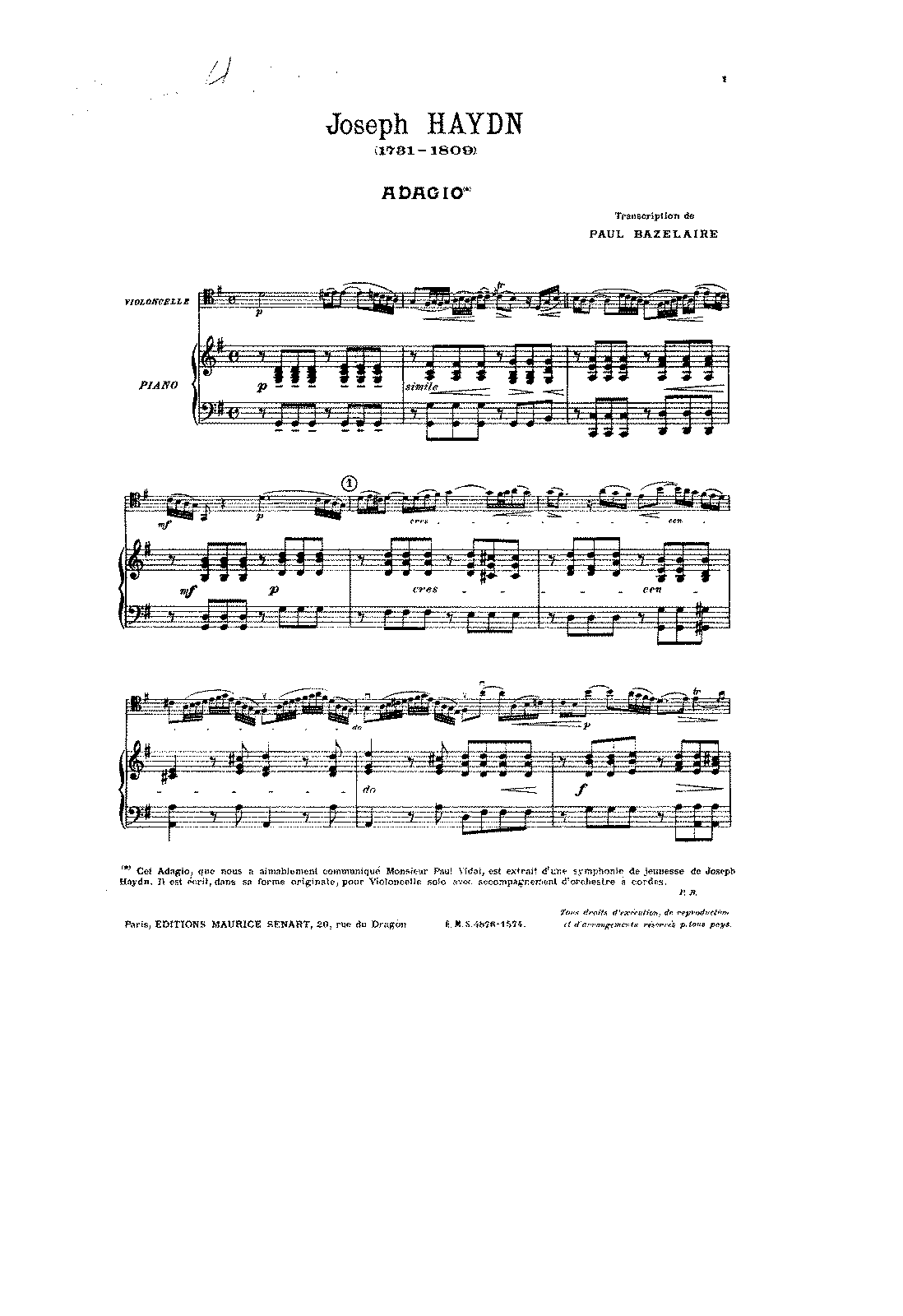PMLP35140-Haydn - Adagio for Cello and Piano from Sym No13 (arr Bazelaire) score.pdf