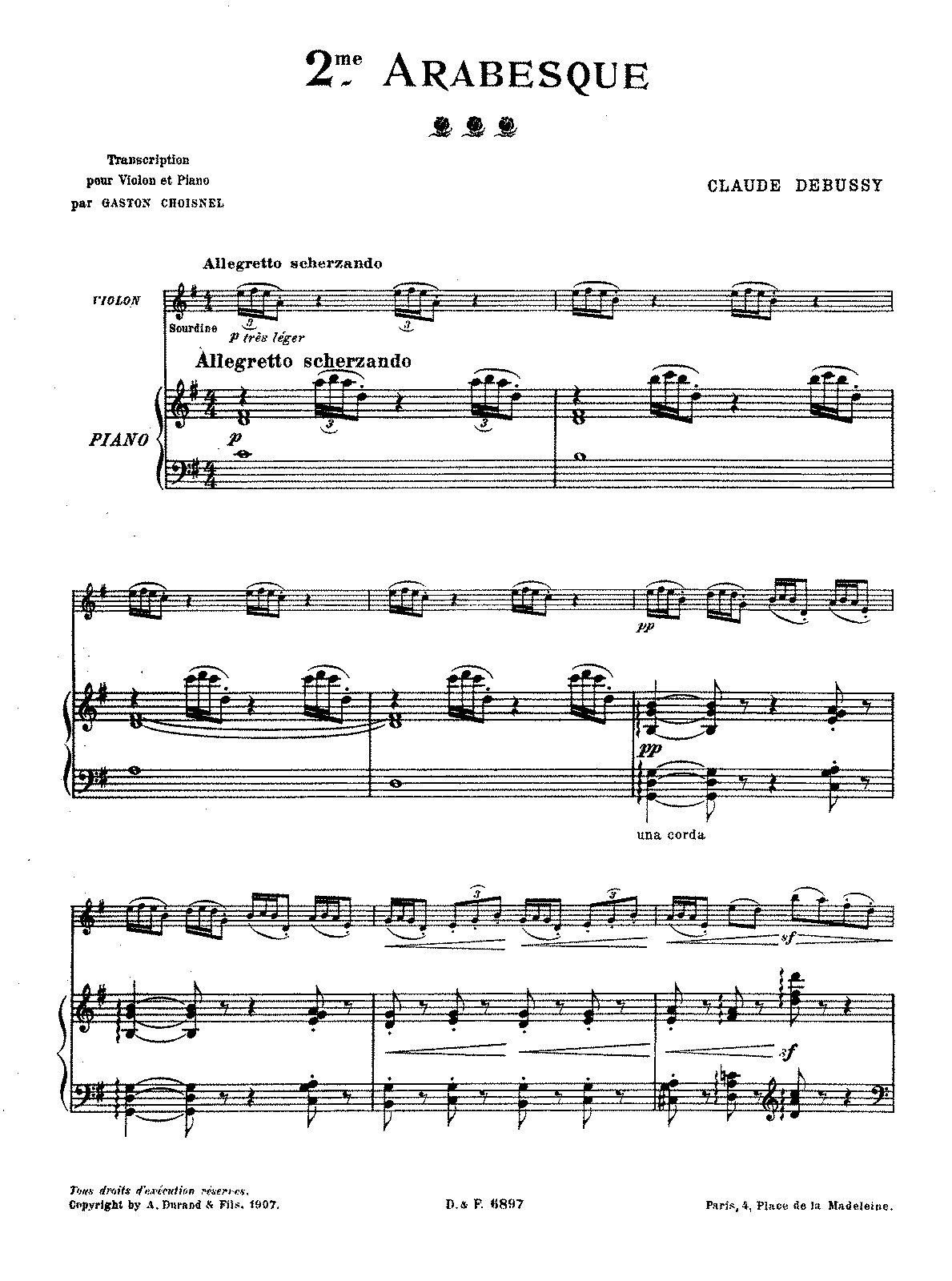 PMLP02383-Debussy - 2nd Arabesque for violin and piano score.pdf