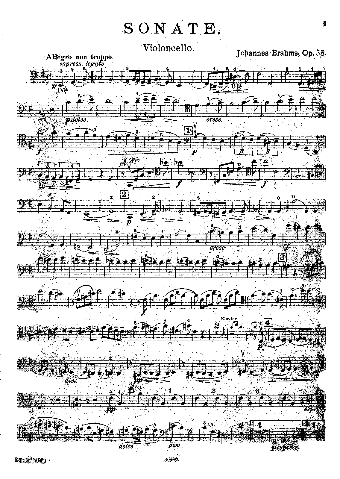 PMLP43440-Brahms - Sonata in E minor Op38 (Klengel) (1925 Peters) Vc.pdf