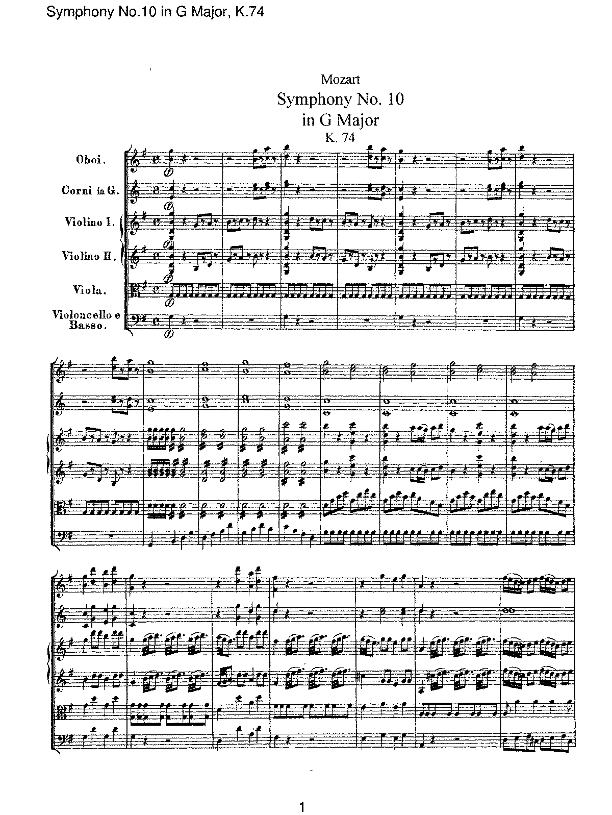 Mozart - Symphony No 10 in G Major, K74.pdf