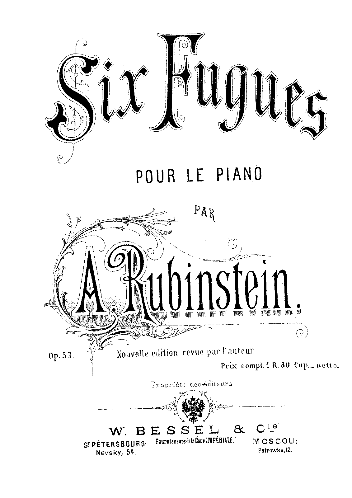 Rubinstein - Op.53 - Six Preludes and Fugues.pdf