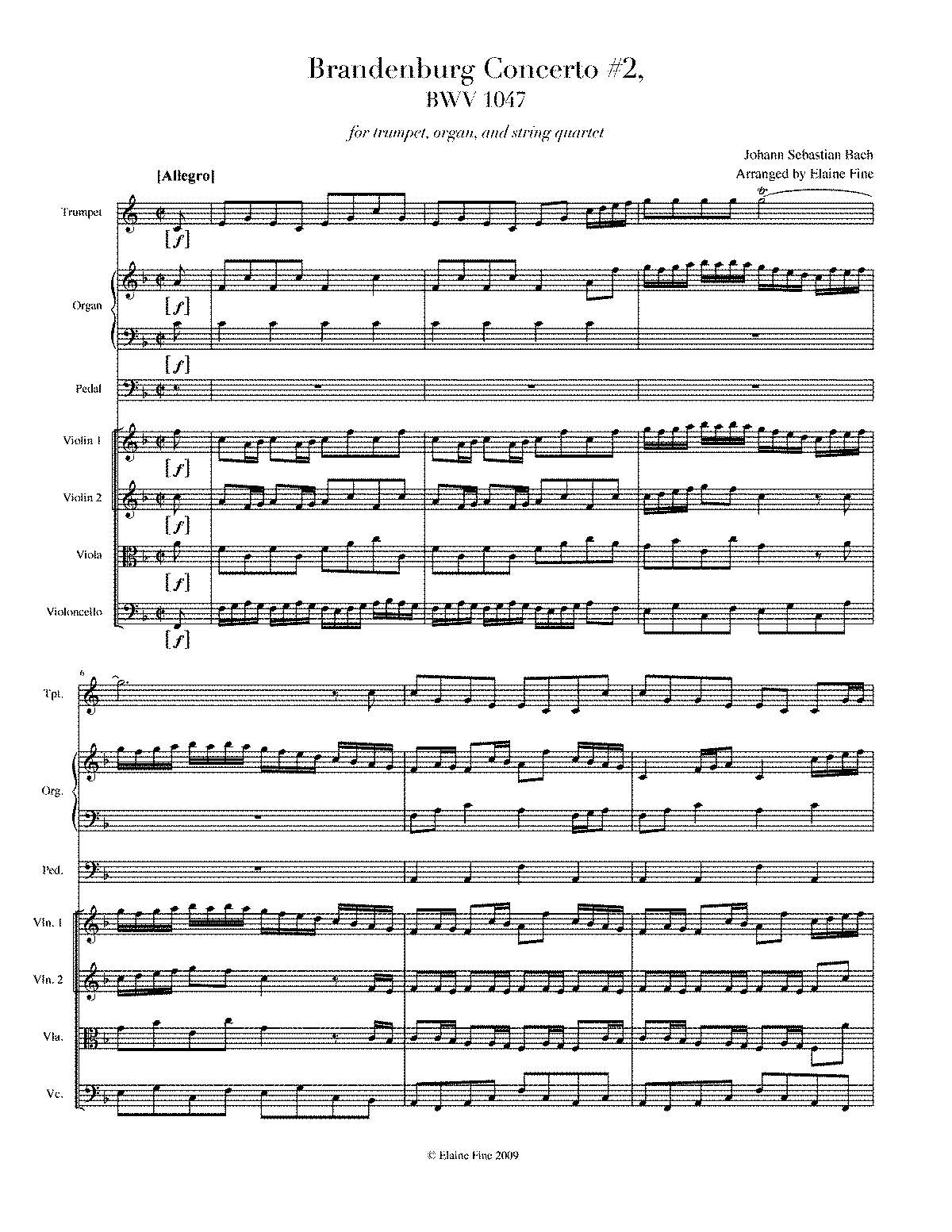 WIMA.edbf-Bach BWV 1047 for Trumpet, Organ, and String Quartet.pdf
