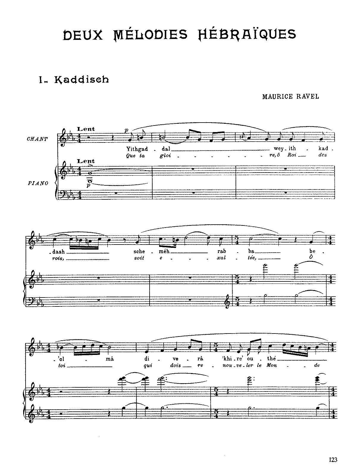 Ravel - 2 Mélodies Hébraïques (voice and piano).pdf