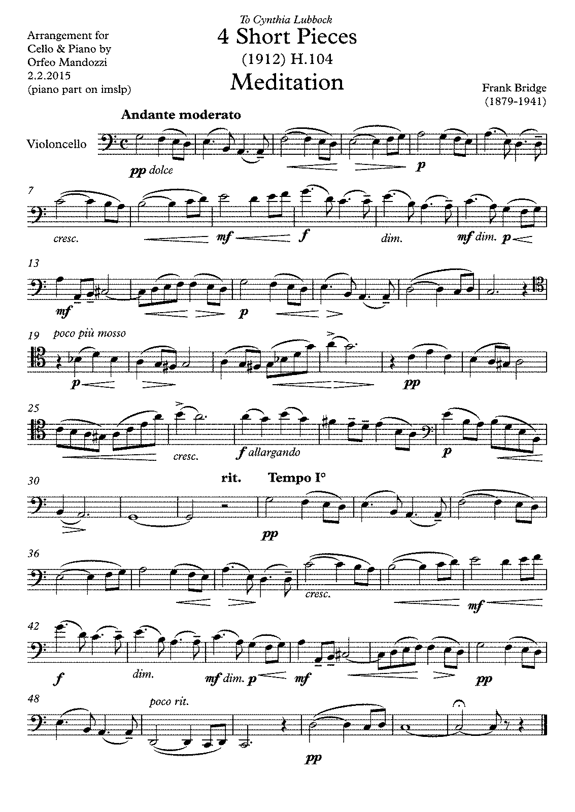 PMLP70802-Bridge Mandozzi 4 Pieces cello - Partitur.pdf