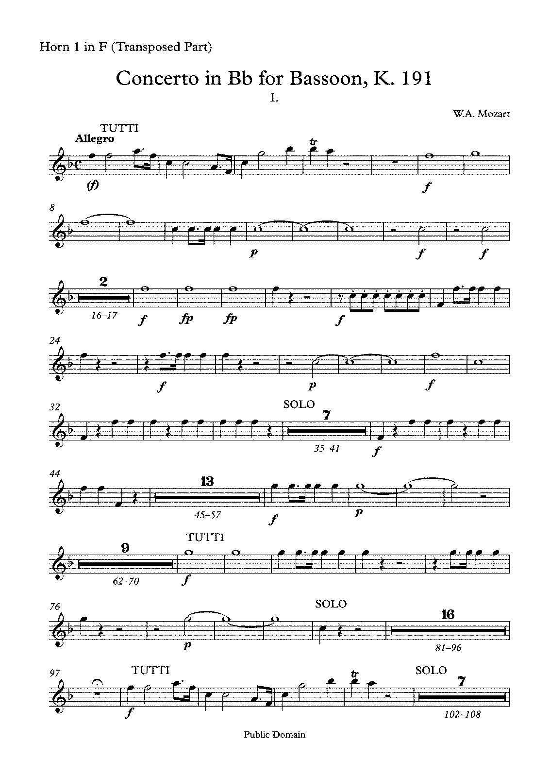 PMLP04337-Concerto in Bb for Bassoon, K 191 - Horn 1 in F (Transposed Part).pdf