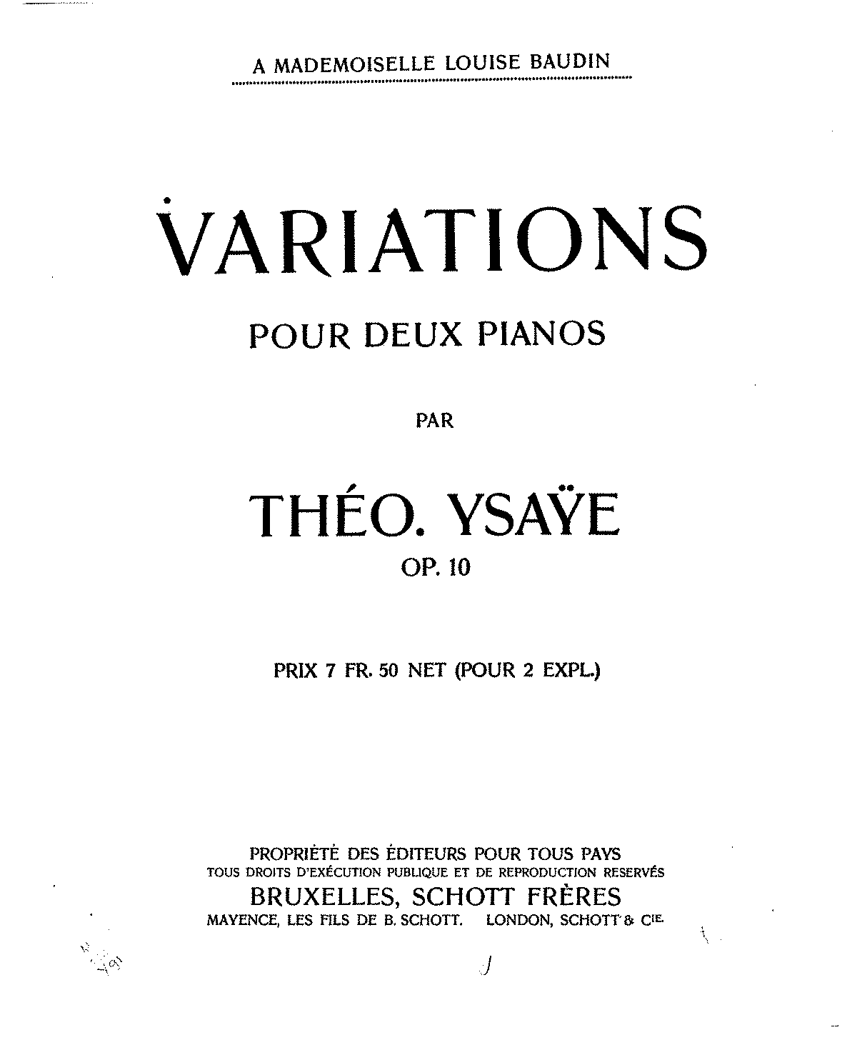 Ysaye, T. - Op.10 Variations for 2 Pianos.pdf