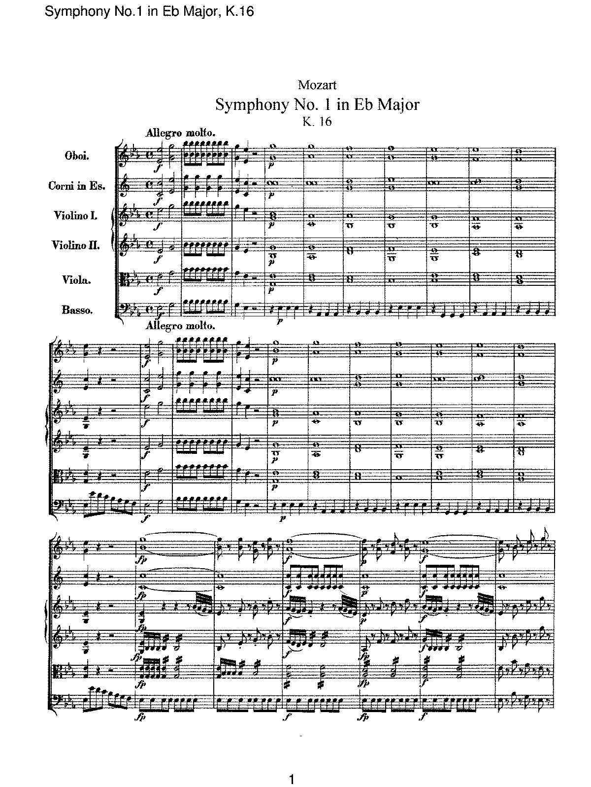 Mozart - Symphony No 01 in Eb Major, K16.pdf