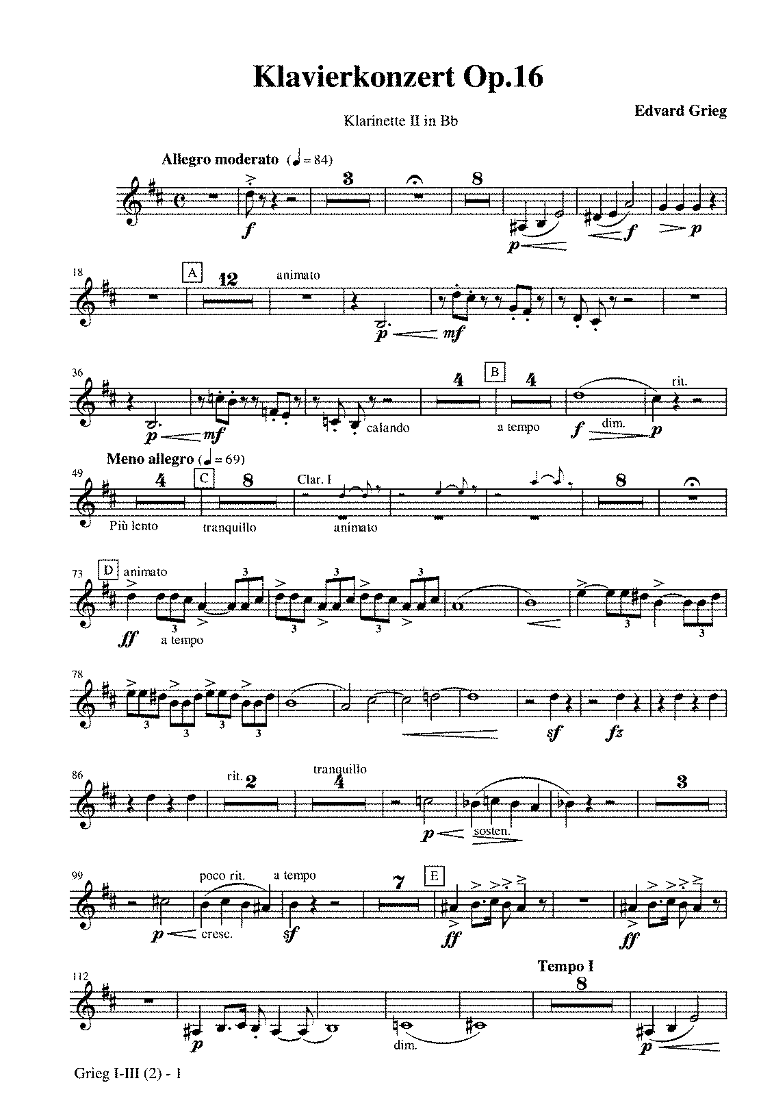PMLP03728-Grieg, Piano Concerto op 16 Clarinet II in Bb.pdf