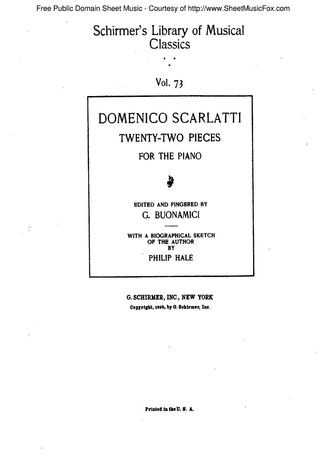 Scarlatti - Book of 22 Piano and Harpsichord Pieces - Title Page.pdf
