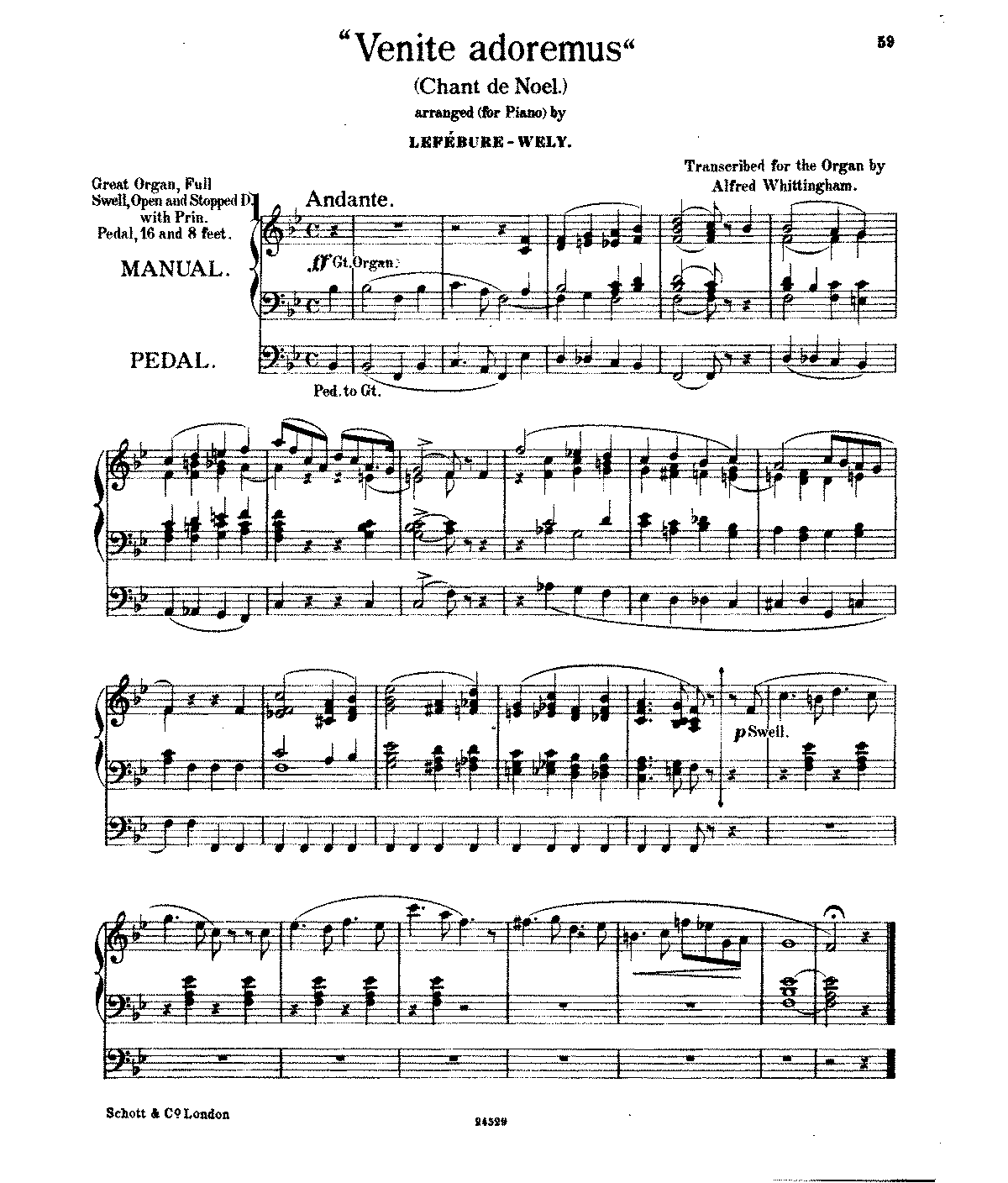 PMLP98948-Lefébure-Wély, Louis James Alfred, Venite Adoremus, for organ by Alfred Whittingham.pdf