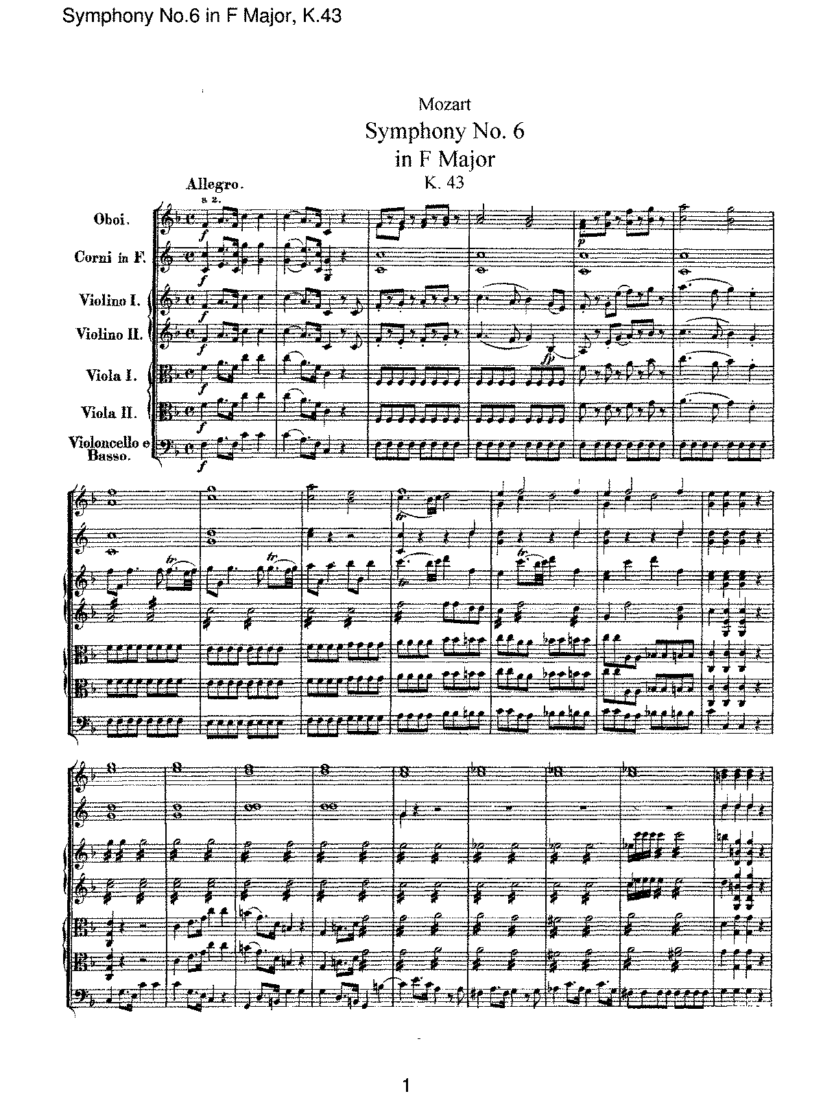 Mozart - Symphony No 06 in F Major, K43.pdf