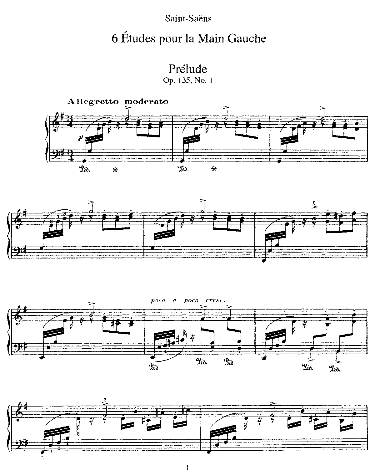 Saint-Saëns - 6 Etudes for the left hand, Op. 135 (piano).pdf