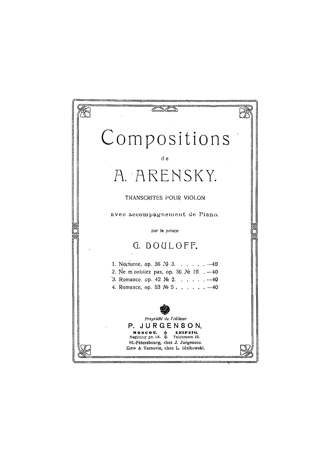 PMLP15265-Arensky - Ne Moubliez Pas Op36 No10 (Douloff) for violin and piano.pdf