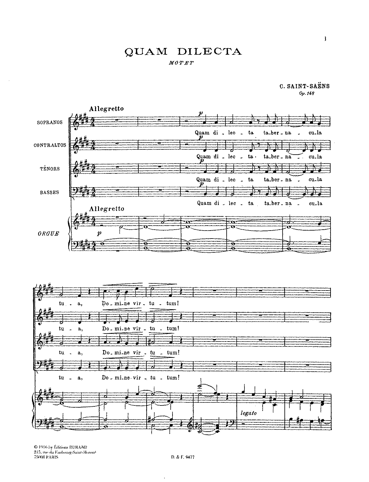 PMLP89459-Saint-Saëns - Quam dilecta, Op. 148 (SATB and organ).pdf