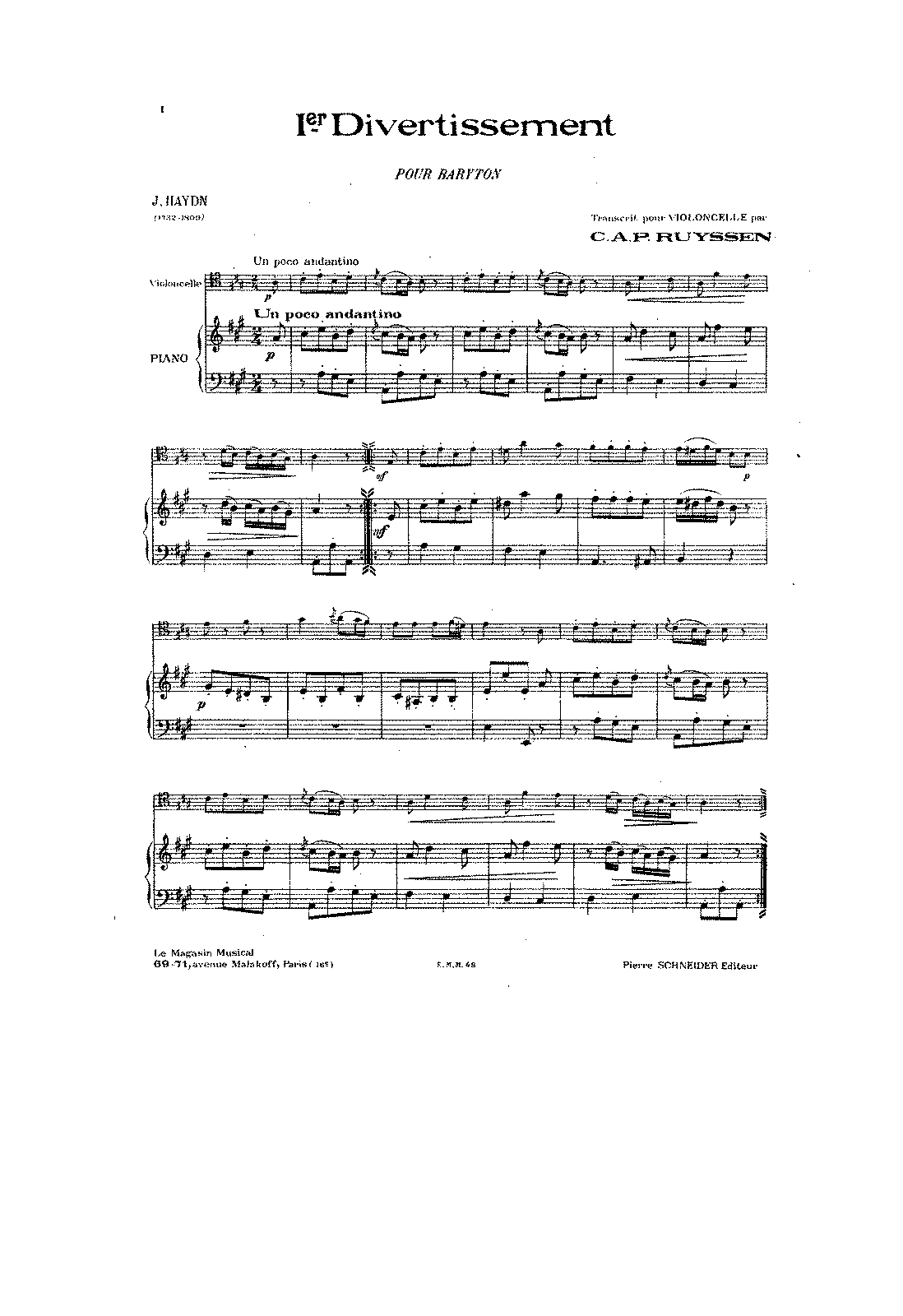 PMLP131910-Haydn - Baryton Trio HobXI 38 A Major arr for Cello and Piano (Ruyssen) score.pdf