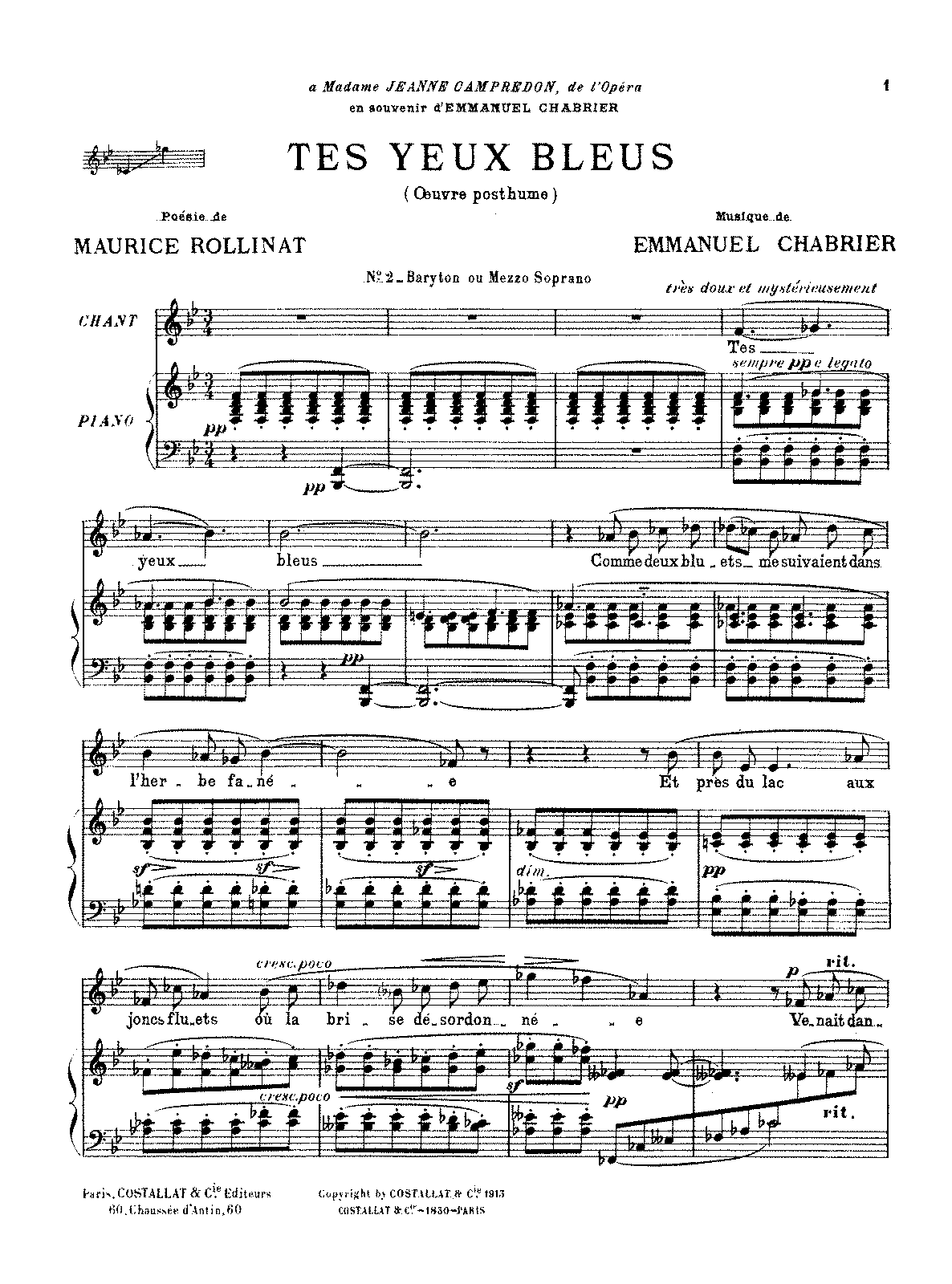PMLP53178-Chabrier - Tes Yeux Bleus (Baritone or Mezzo voice and piano).pdf