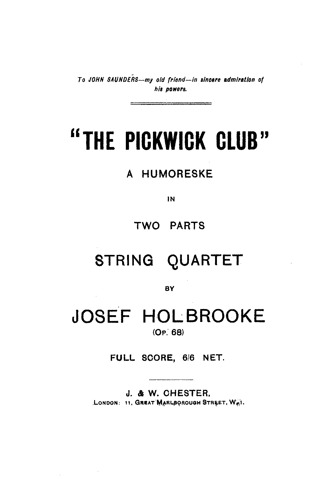 PMLP58243-Holbrooke - The Pickwick Club - A Humoreske in Two Parts for String Quartet Op 68.pdf