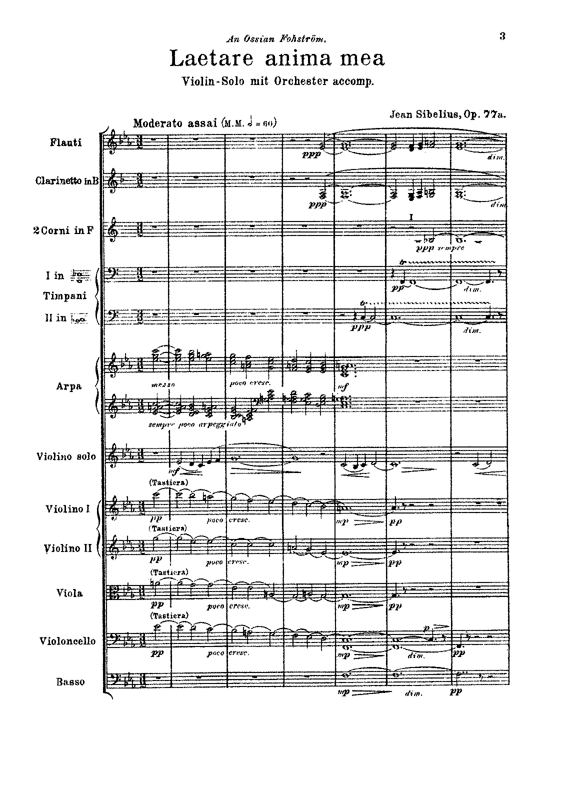 Sibelius - 2 Pieces for violin orchestra, Op.77 No.1 (orch. score).pdf