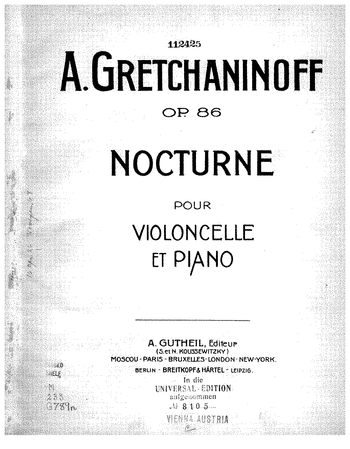 Gretchaninov - Op.86 - Nocturne (Cello and Piano).pdf