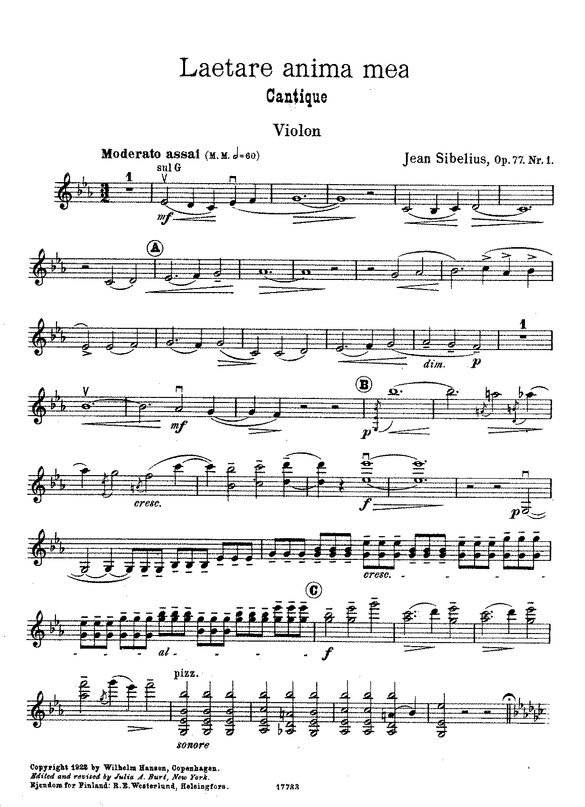 Sibelius - 2 Pieces for violin and orchestra, Op.77 No.1 (arr. Sibelius - violin or cello and piano).pdf