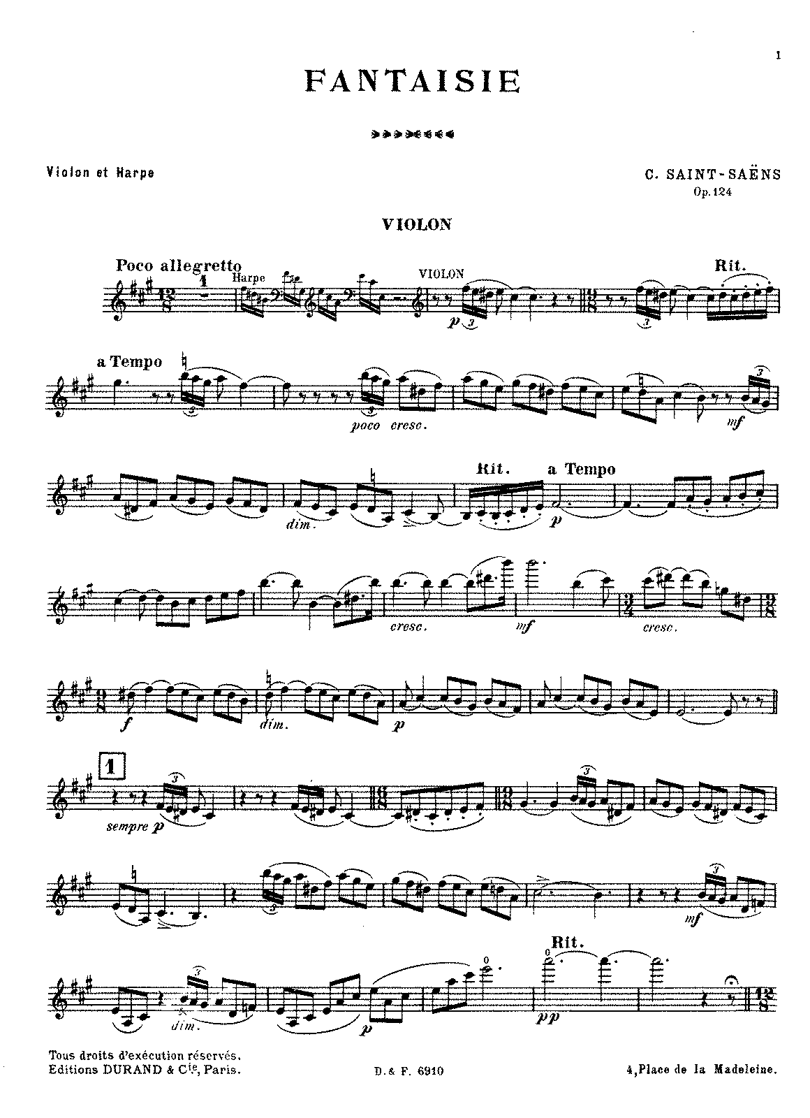 PMLP69010-Saint-Saëns - Fantaisie, Op. 124 (violin and harp).pdf