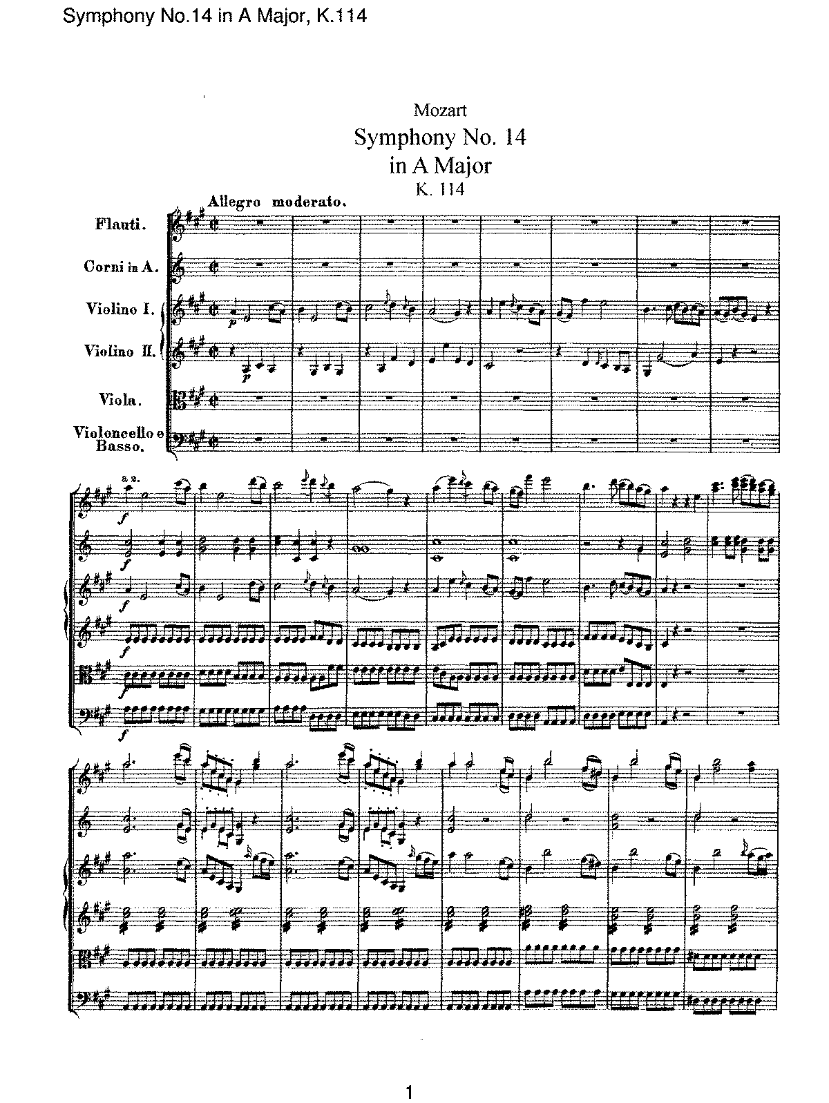 Mozart - Symphony No 14 in A Major, K114.pdf