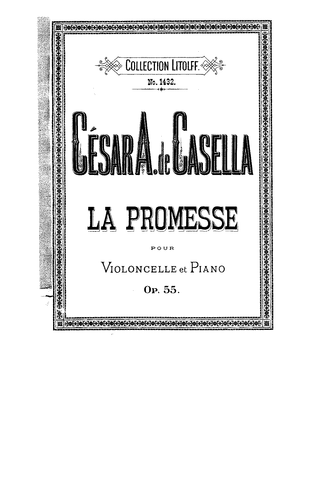 PMLP135994-Casella - La Promesse Serenade Dans le Style Oriental for Cello and Piano Op55 score.pdf
