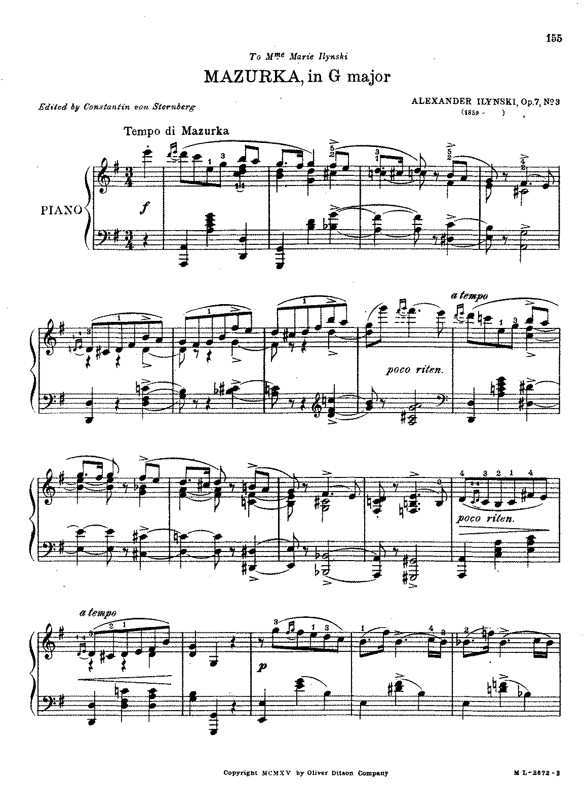 Ilyinsky - Op.7 No.3 - Mazurka in G Major.pdf