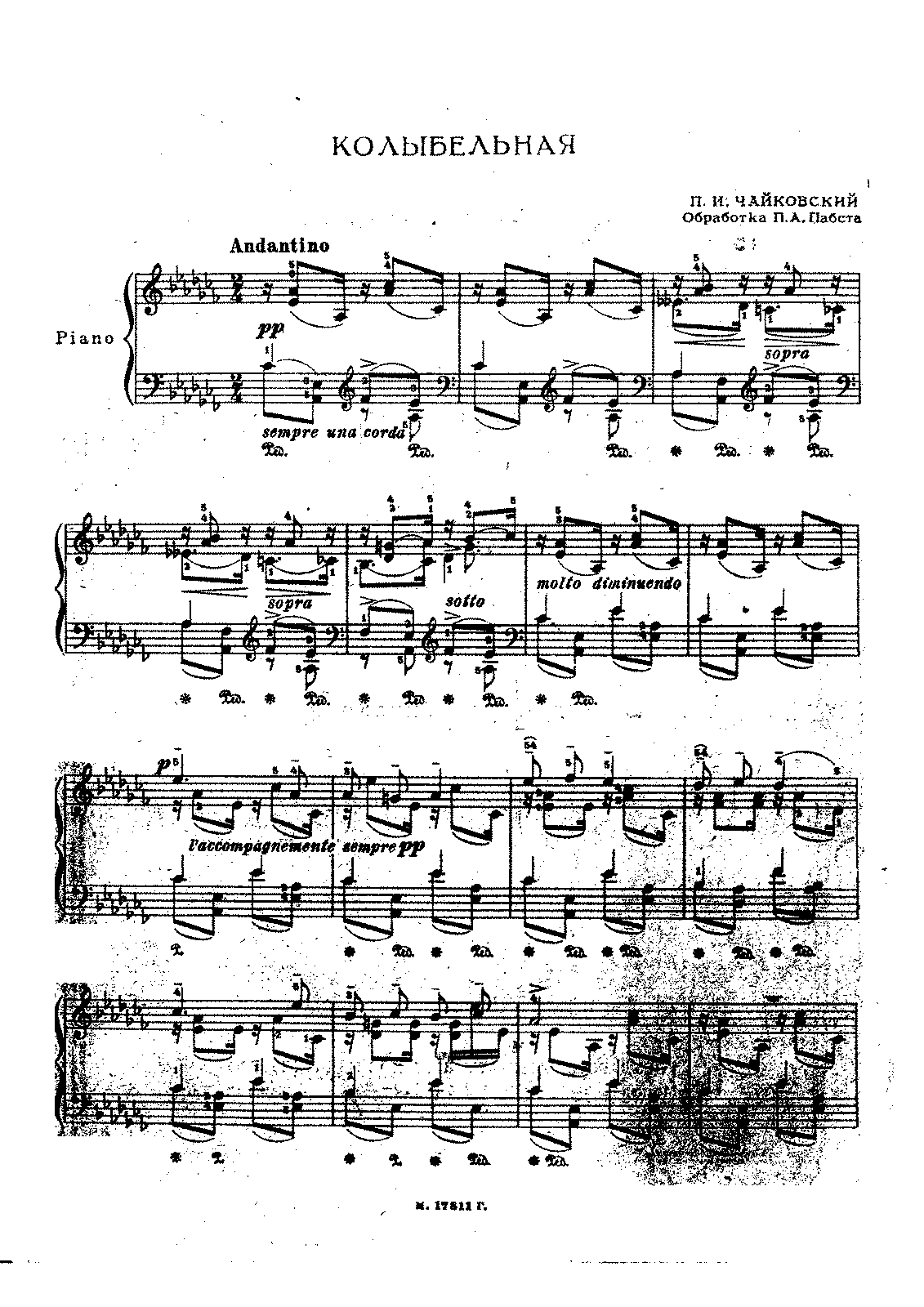 Pabst - Op.misc - Transcription of Tchaikovsky's Berceuse op.16a.pdf