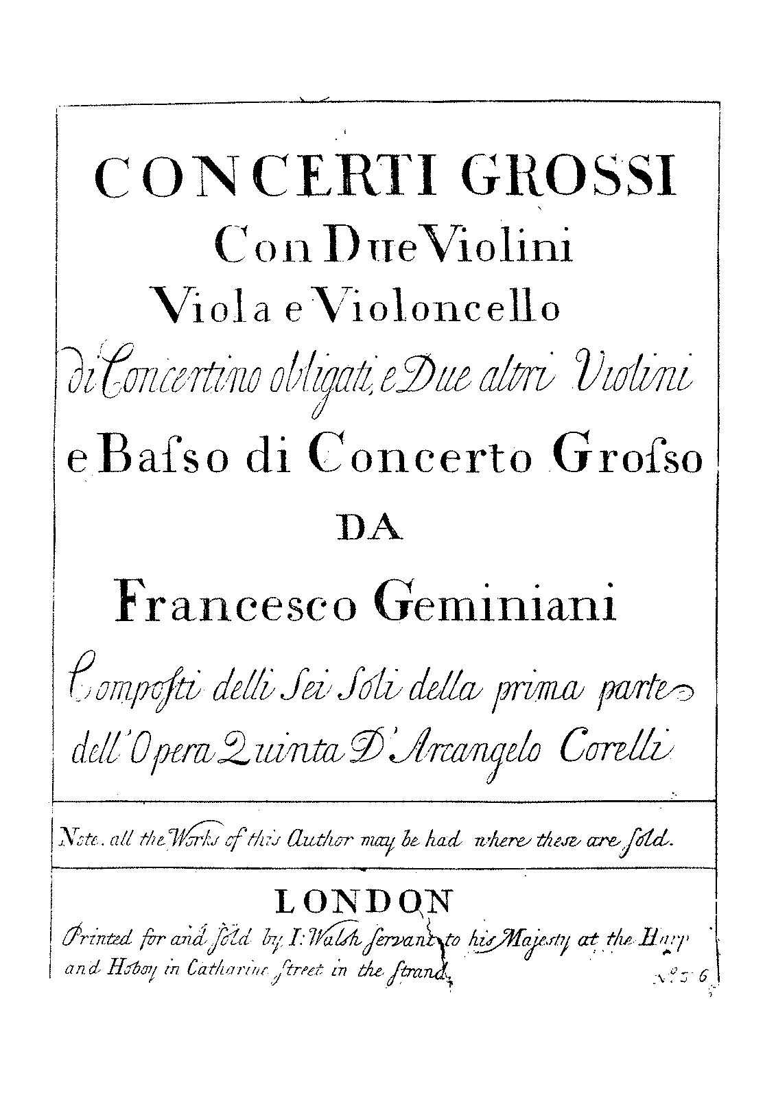 PMLP456671-Geminiani, Francesco - Concerti Grossi 1-6 after Corelli's Op.5 - Violin 1 Concertino.pdf