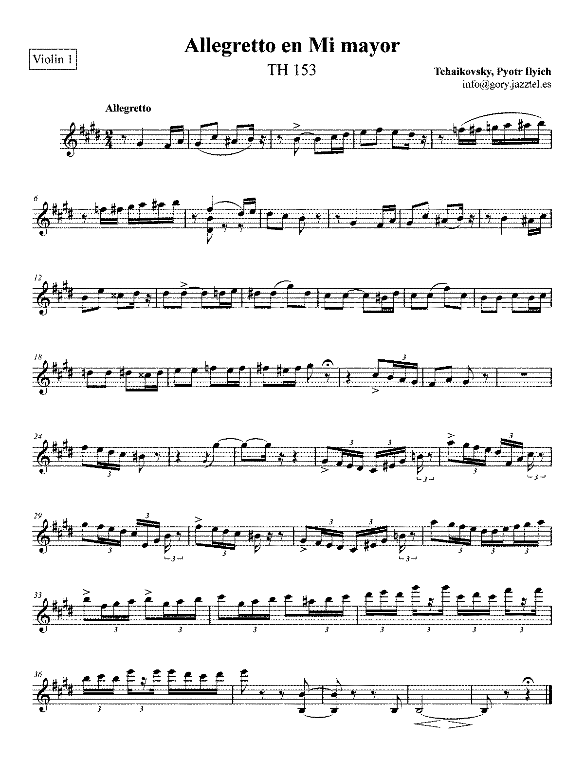 PMLP49114-Allegretto en mi mayor - Violin 1.pdf