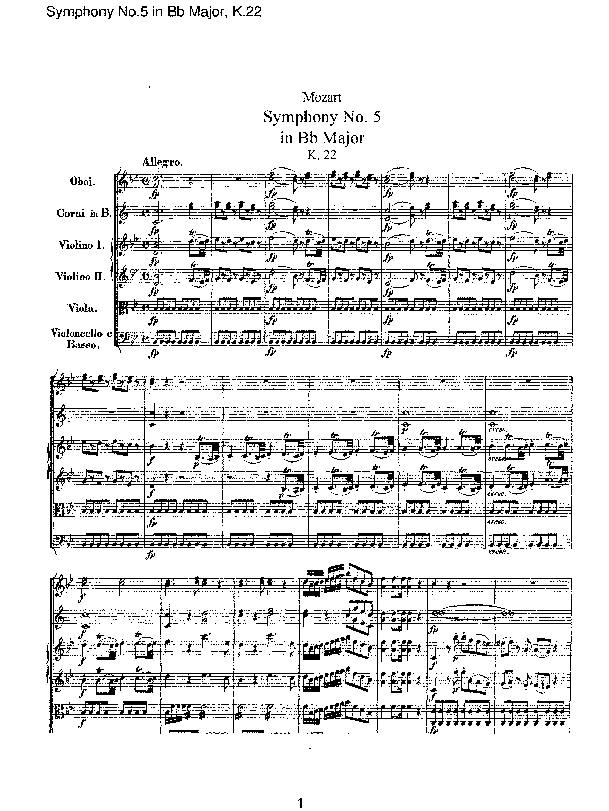 Mozart - Symphony No 05 in Bb Major, K22.pdf