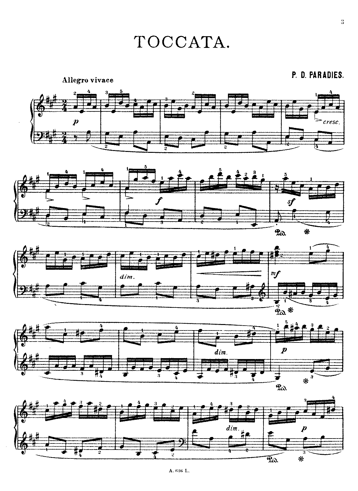 Paradies - Toccata in A (From Sonata No.6).pdf