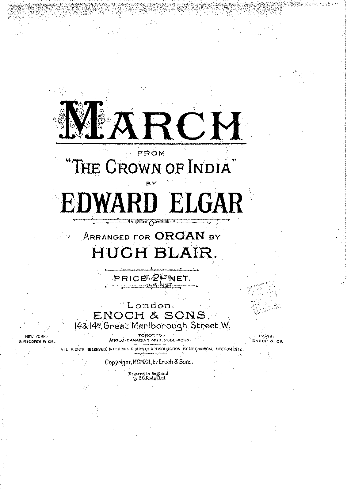 PMLP192115-Elgar - The Crown of India, Op. 66 (March - Crown of India), transc. H. Blair.pdf