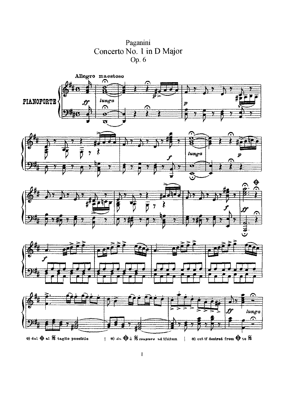 Paganini - Concerto No.1 in D major, op6..pdf